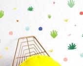 Wall Decal - Desert Confetti Colorful Compilation - Wall Sticker - Room Decor - Wall Decor - Cactus Wall Decor