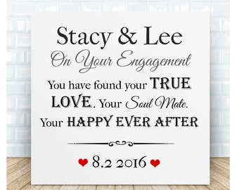 Personalised Engagement CeramicPlaque.