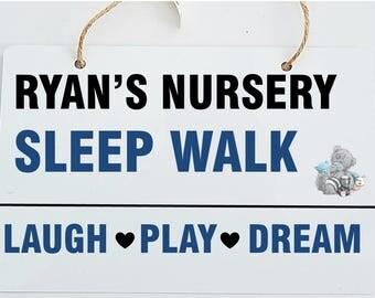 Children's Bedroom Personalised Street Sign Design Wooden Hanging Plaque