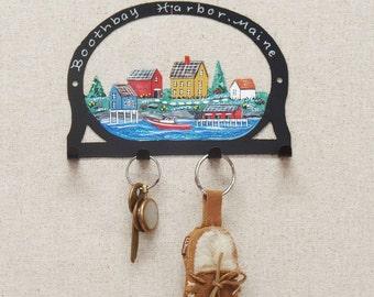 Maine Fishing Village Key Rack