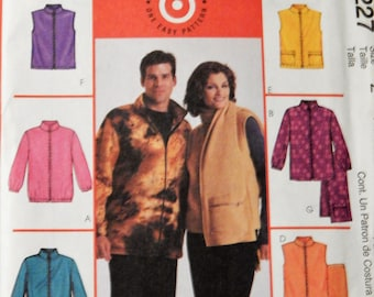 McCall's 4227 Simple to sew jackets, vests and scarf pattern Uncut Sizes extra large (46-48) and extra extra large (50-52)