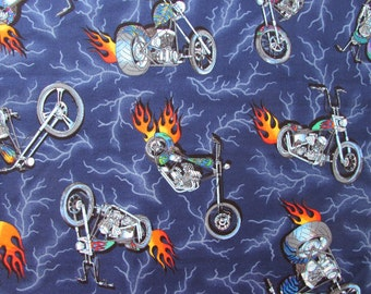 "30""x44"" Motorcycle Chopper Fabric 146"