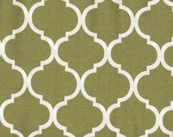 Natural Off White Moroccan Quatrefoil Fabric For Upholstery
