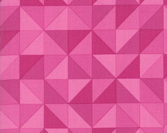 1/2 Yard - Spectrum Ombre - Half Square Triangle - Magenta - V and Co - Vanessa Christenson - Moda Fabrics - Fabric Yardage - 10860-15