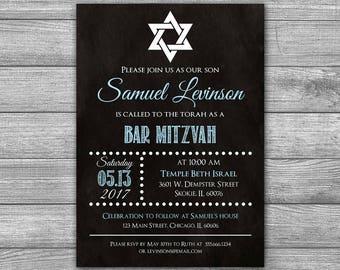 Scary halloween invitations halloween invites printable bar mitzvah invitation bar mitzvah invite chalkboard printable bar mitzvah invitation custom bar solutioingenieria Gallery