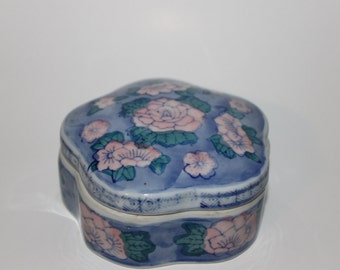 Vintage Chinese Porcelain Trinket Box