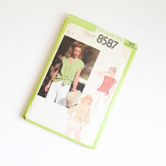 TAMAÑO 12 8587 simplicidad mujeres blusón camisa coser sin cortar ...