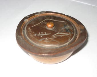 Bangor Maine vintage wood trinket box from Japan
