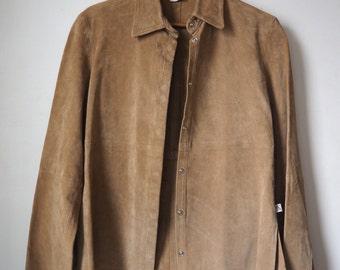 35% off * Vintage Calvin Klein leather/suede jacket/jacket-90's