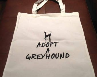Greyhound Whippet Calico Totes Shopping Library Bags