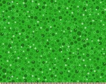 Bubbly~Grasshopper Green Cotton Fabric by Patrick Lose Fabrics~Fast Shipping SB418