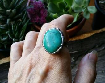 Malachyte silver ring