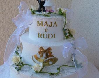 Wedding cake - money gift - table decoration