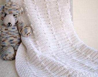 Crochet Baby Blanket Pattern - DIY Afghan, Baby Girl Blanket Pattern - Lakeshore Trellis P121