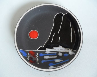 Norwegian Trifa ceramic wall plate,small pottery plate,collectible norwegian ceramic,handmade ceramic wall plate
