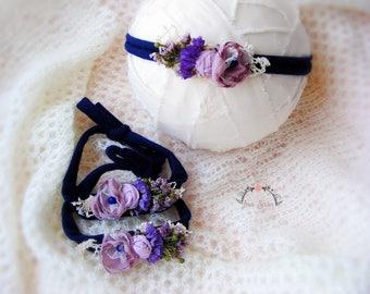 Newborn headband, Newborn tieback, Photography prop, Newborn flower headband