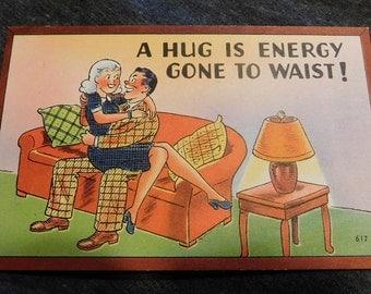Vintage Comic A Hug is Energy Gone To Waist! #617