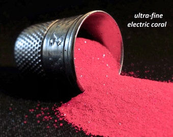 glitter - electric coral ultra-fine polyester