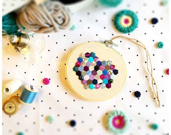 Confetti Small Hexie Heart Issue 06