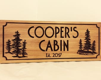 Cabin Signs, Personalized Wood Sign, Family Cottage Sign,  Personalized Cabin Sign, Wooden Sign, Carved Signs, Engraved Plaques, Cabin Decor