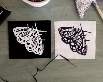 Small Moth Sew On Patch