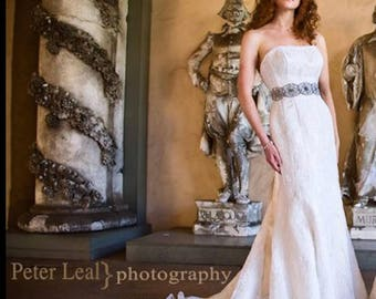 Lace Lilac... wedding gown with low back high scoop in front