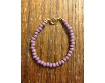 Blair Bracelet // Purple Bracelet, Purple Baby Bracelets, Lilac Baby Bracelet, Purple Toddler Bracelet