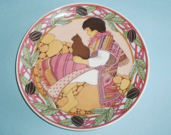 Heinrich Unicef Children Of The World Plate No. 6 Child of Mexico 1982 Heinrich Villeroy and Boch 8 Inch Decorative Plate