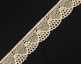 Vintage Natural Cluny Lace Trim by 3-Yards, 7/8 Inch, TR-11395