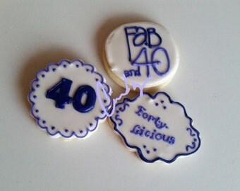 40th Birthday Cookies (1 dz.)