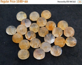 41% Sale Yellow Jade, Calibrated Cabochon, 7MM Round Cabochon M-74