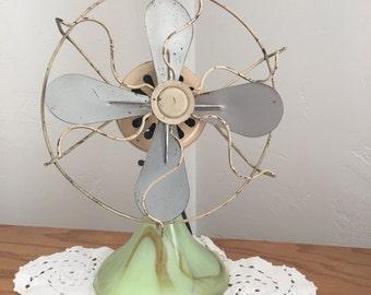 Akro Agate marble base fan