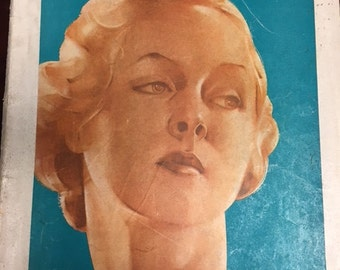 """Antique, Magazine, from June 1935, Woman's Home Companion, Approx 14"""" x 11"""""""