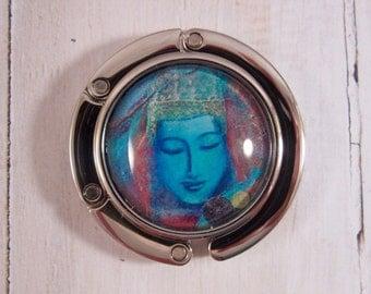 Buddha Art Purse Hanger, Handbag Hook, Purse Hook, Buddha Purse Hanger, Buddhism Purse Hanger