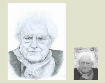 personalised gift, Birthday gift, pencil drawing,  portrait commission, for a loved one