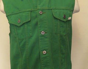 Green Denim Waistcoat (by Benetton)