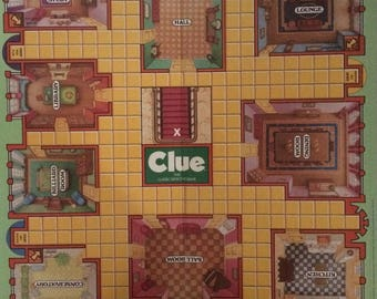 Clue Parker Brothers 1986 1992 complete board game