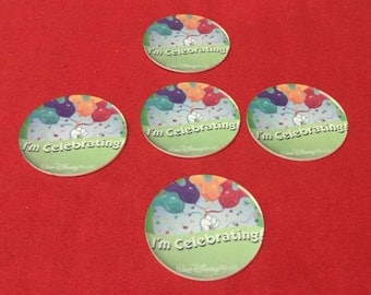 Set of 5 I'm Celebrating WDW Flat Back RESIN