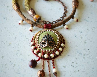 """Bead Embroidered Necklace """"The Masquerade 2.0"""""""