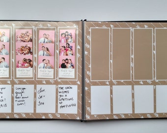 Kraft Brown and White Arrows Photo Booth Album