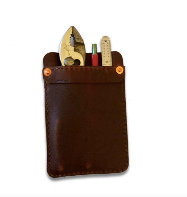 Leather Shirt Pocket Protector