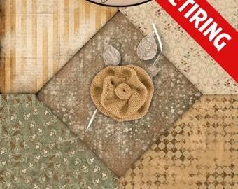 Digital Scrapbooking: Vintage, Melancholy Blended Paper Pack