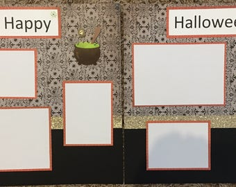 12x12 premade scrapbook pages~ Happy Halloween