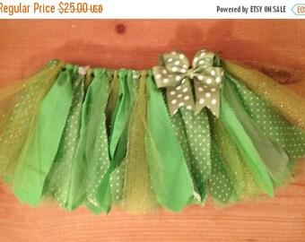 Lime Green Scrap Fabric Tutu