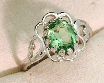 Vintage Seta Ring With Green Stone