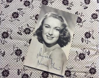 "SUSAN SHAW Original 1940s ""Signed / Autograph"" RP Real Photo Movie Star Studio Portrait."