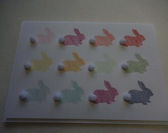 Rainbow Bunny Easter Card