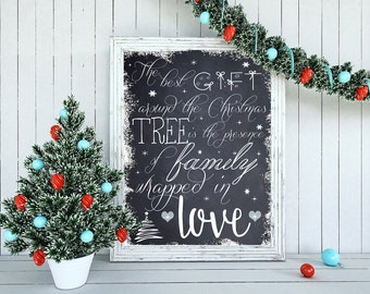Christmas Poster INSTANT DOWNLOAD 16x20 and 20x30 Sizes
