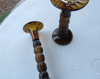 Hand Blown Mexican Glass Candle Holders