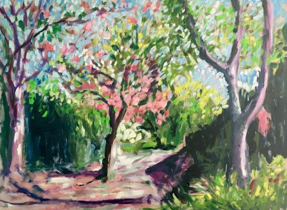 "Original Oil Painting: Baltimore Spring, 24"" x 32"""
